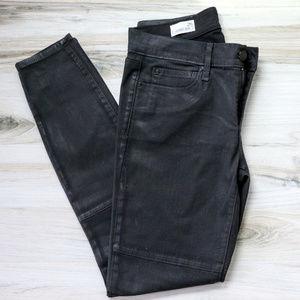 Gap Coated Black Denim Legging Jeans